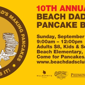 10th Annual Beach Dads Pancake Breakfast,  Sunday, September 20th